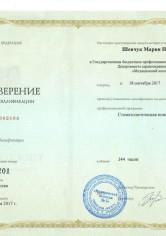 Шевчук Мария Николаевна