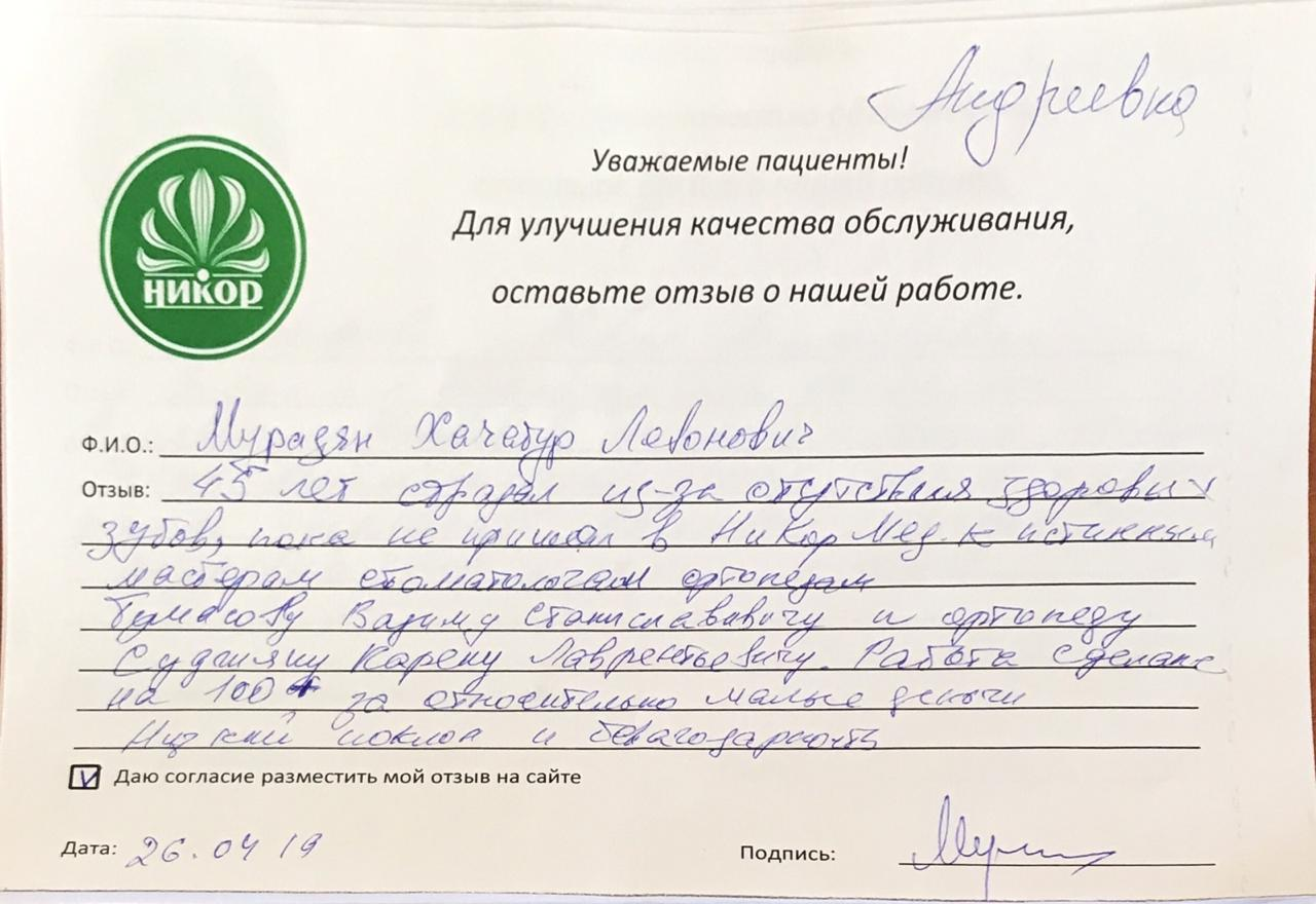 Мурадян Хачатур Левонович